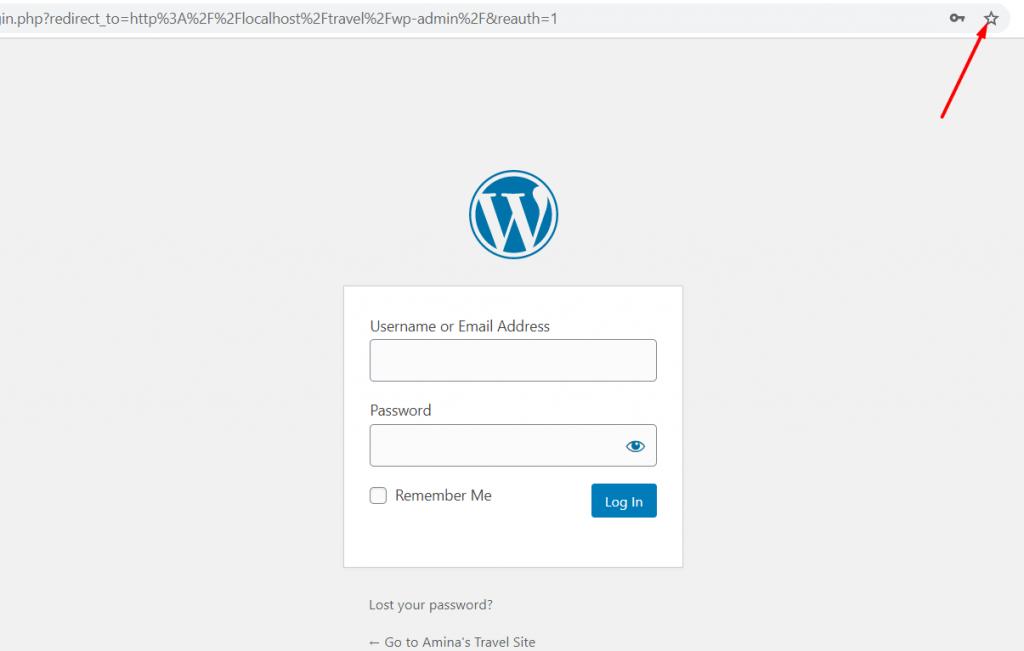 Save WordPress login URL