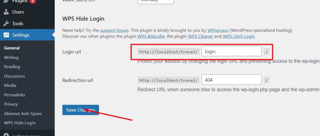 Customize login URL