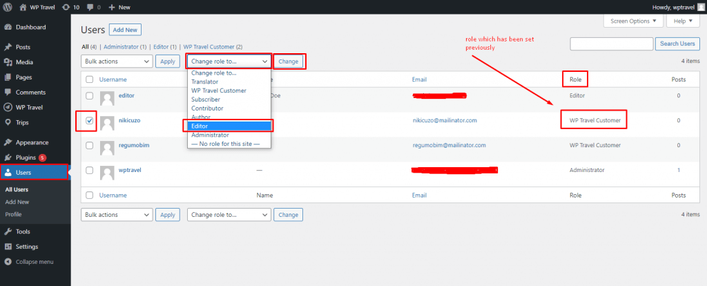 backend access to users without giving administrator permission